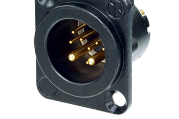 10 pole XLR Chassis Connector